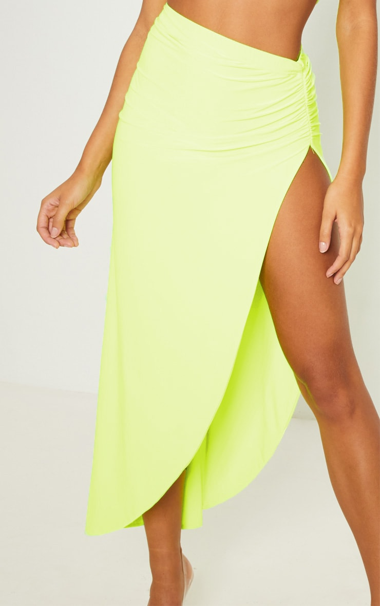Neon Yellow One Shoulder Crop Top 6