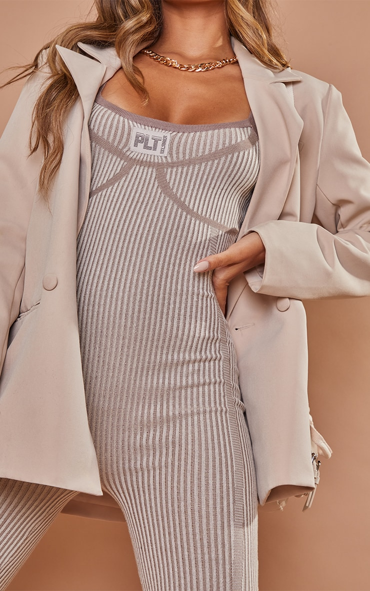 PRETTYLITTLETHING Stone Bust Detail Strappy Jumpsuit 4