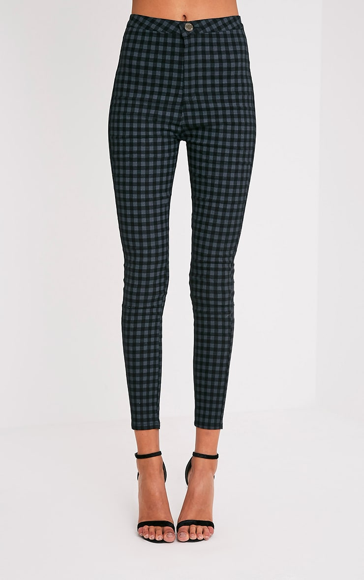 Stefanie Grey Gingham Skinny Trousers 2