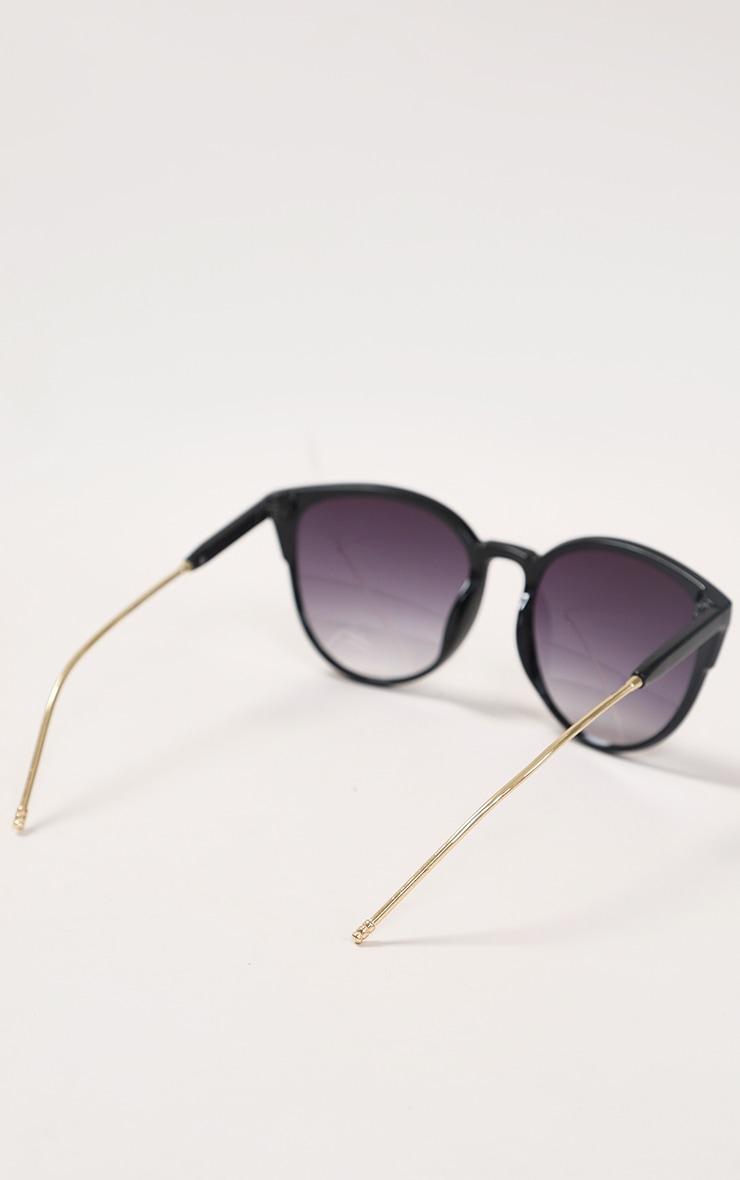 Black Sleek Oversized Cat Eye Sunglasses 4