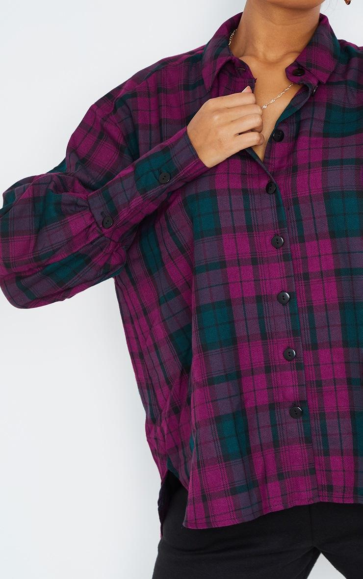 Maroon Checked Shirt 4