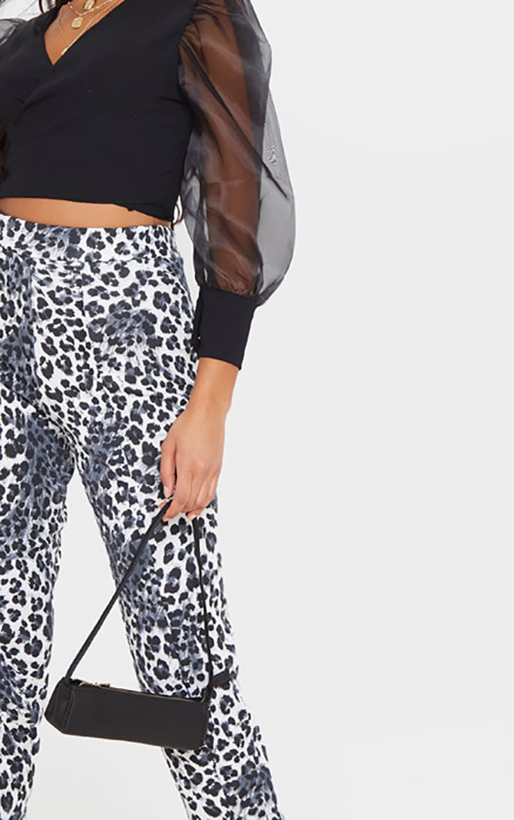 White Snow Leopard Skinny Pants 5