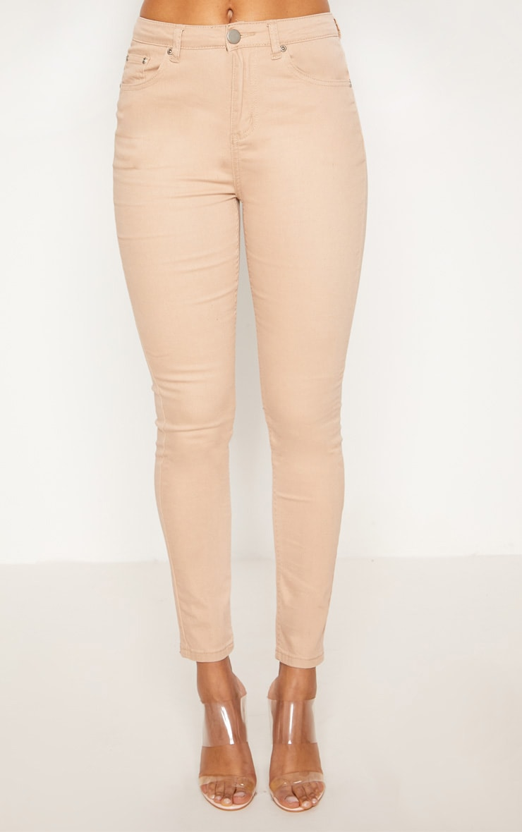 Nude High Waisted Skinny Jean 6