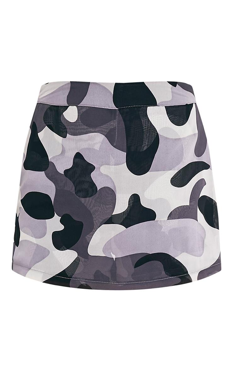 Maysah Grey Camouflage Skort 3