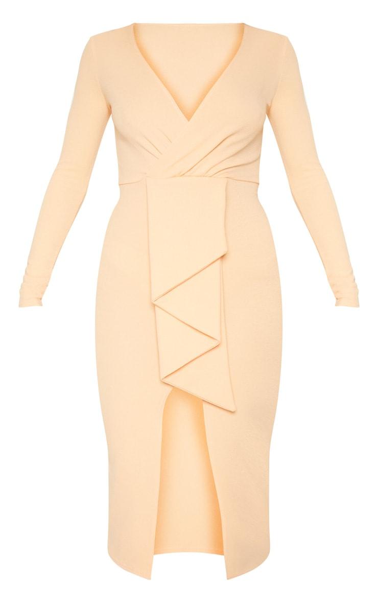 Tangerine Frill Midi Dress 3