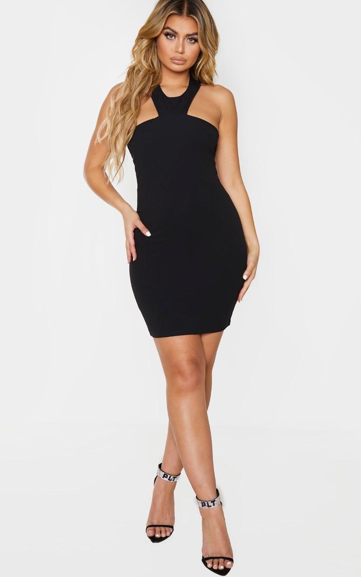 Black Halterneck Bodycon Dress 3