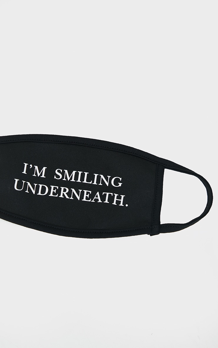 Black Im Smiling Underneath Face Mask 3