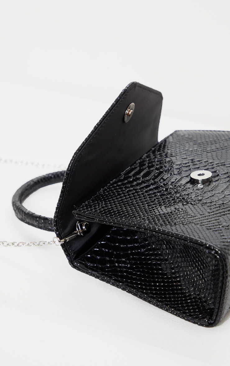 Black Croc Envelope Large Grab Bag 3