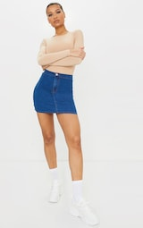 Mid Wash Disco Fit Skirt 1
