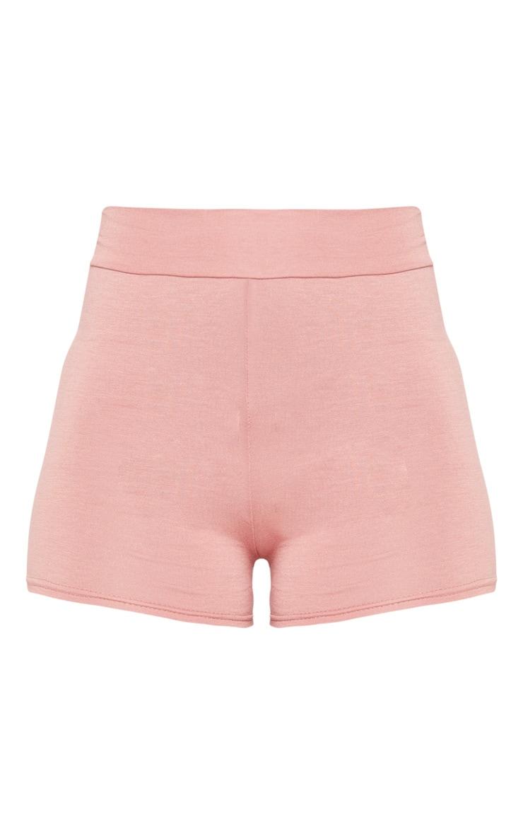 Dusty Rose Basic High Waisted Shorts 3