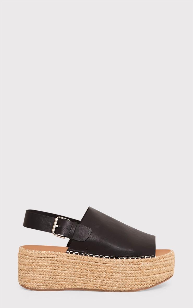 Kendyl Black Flatform Sandals 2