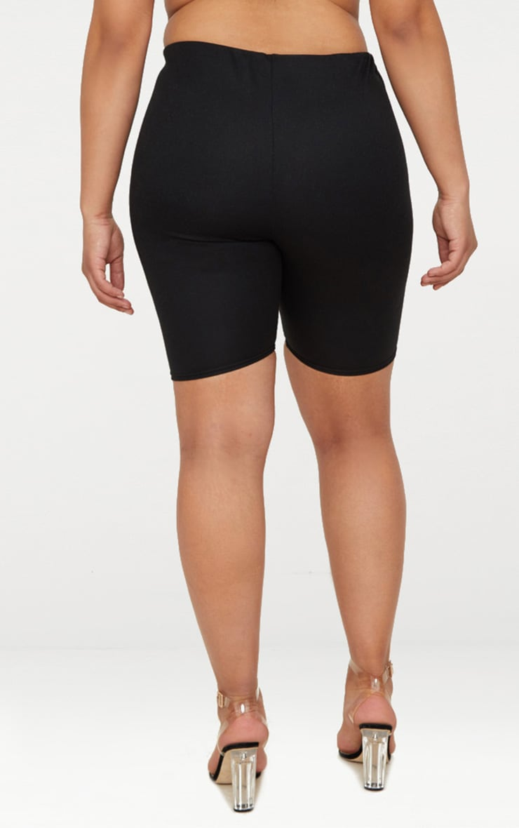 Plus Black Second Skin Bike Shorts 4