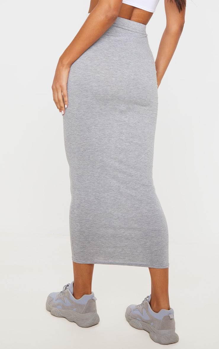 Basic Grey Midaxi Skirt 3