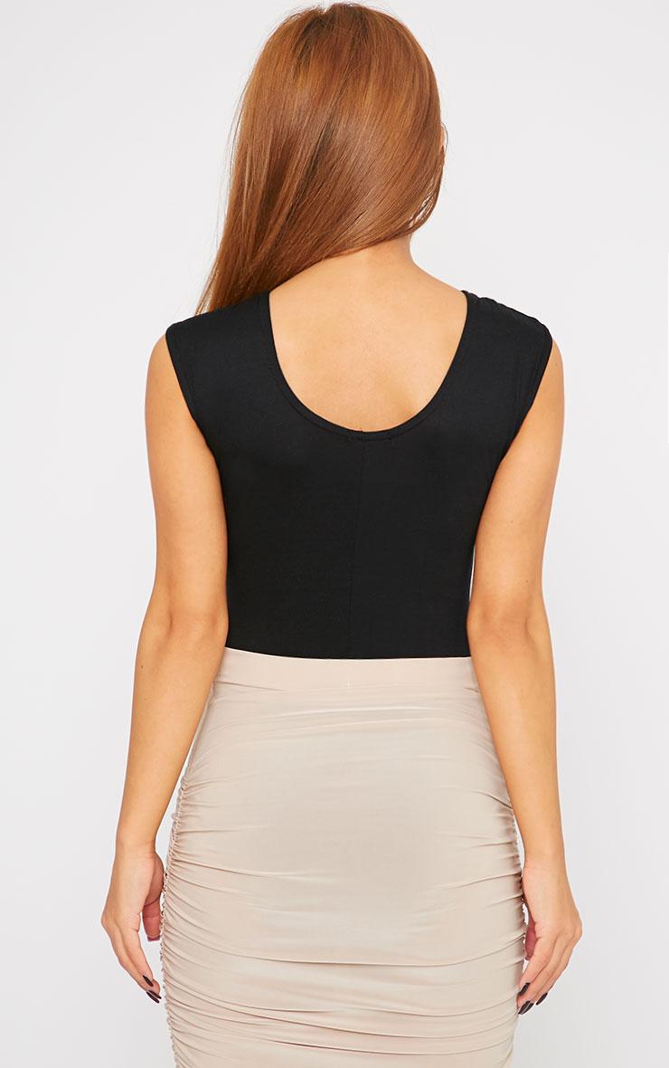 Zara Black Mesh Front Bodysuit  2