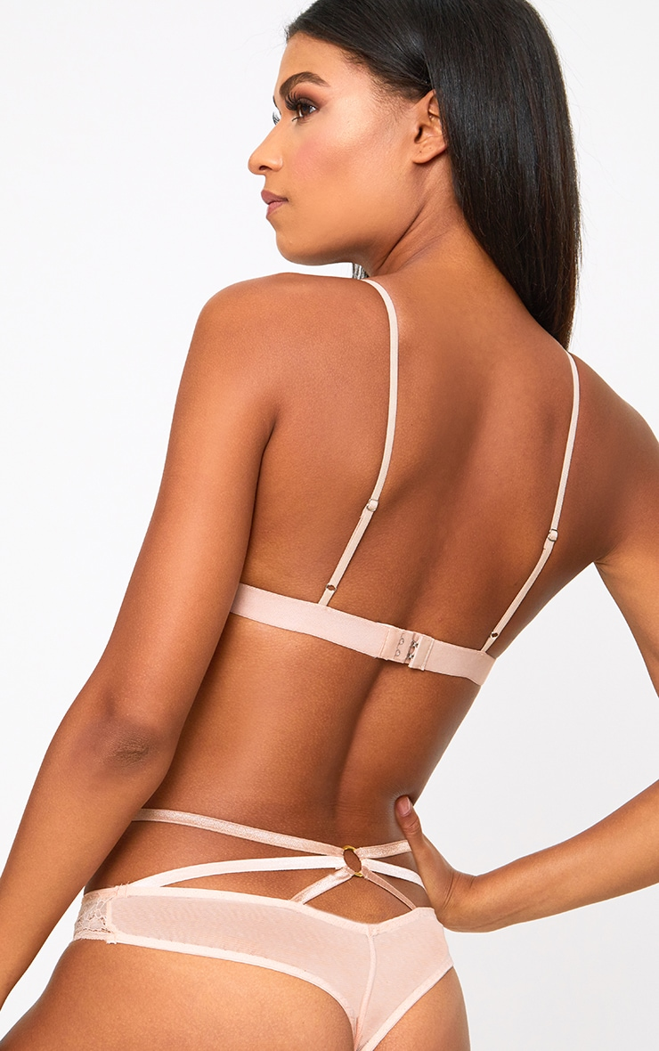Rose Triangle Lace Detail Bra 2