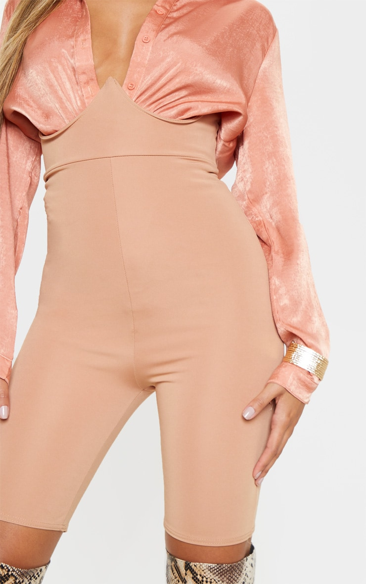 Camel High Stretch Bustier Cycle Short 6