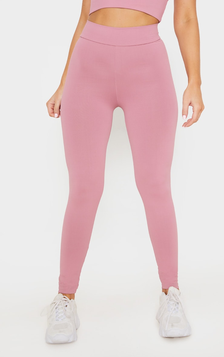 Dusty Pink Luxe High Waist Gym Legging 2