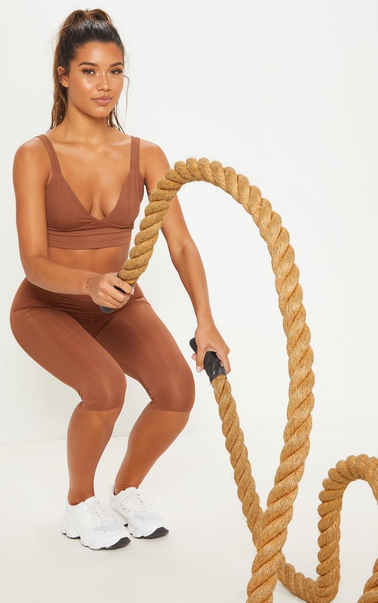 Brown Basic Gym Bralet 4