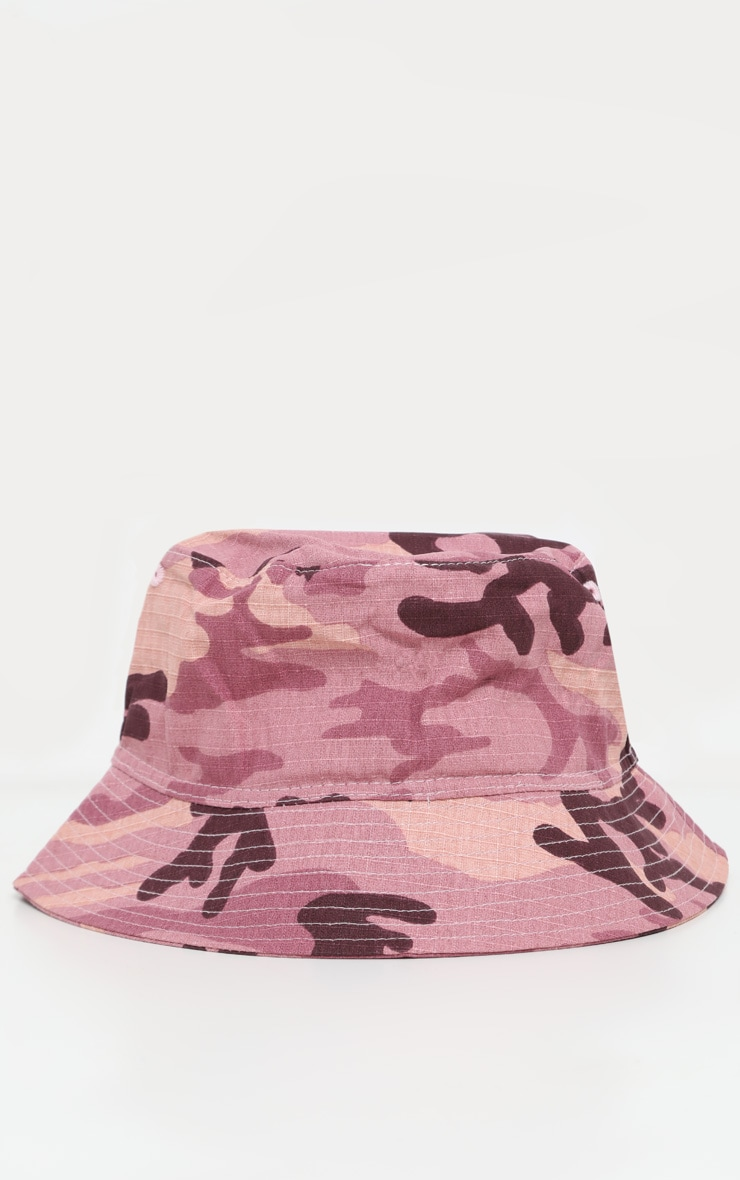 Pale Pink Camo Bucket Hat 2