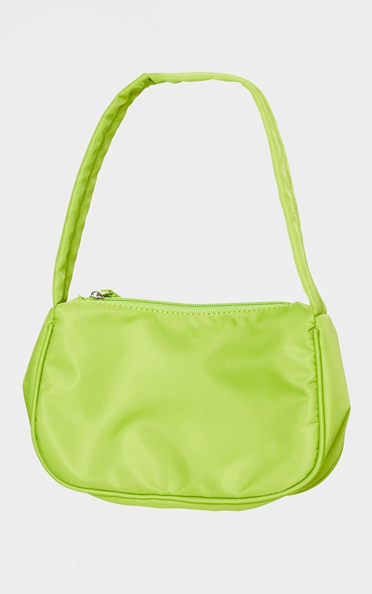Lime Nylon Shoulder Bag 2