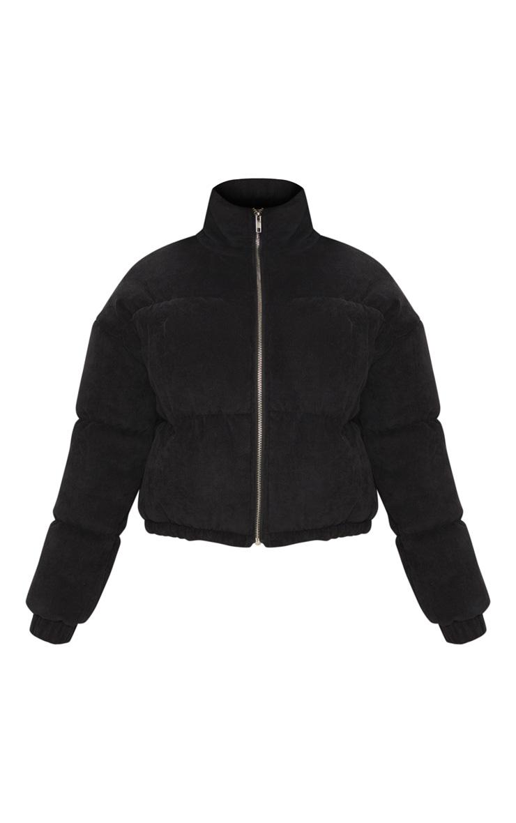 Petite Black Cord Puffer Jacket 3