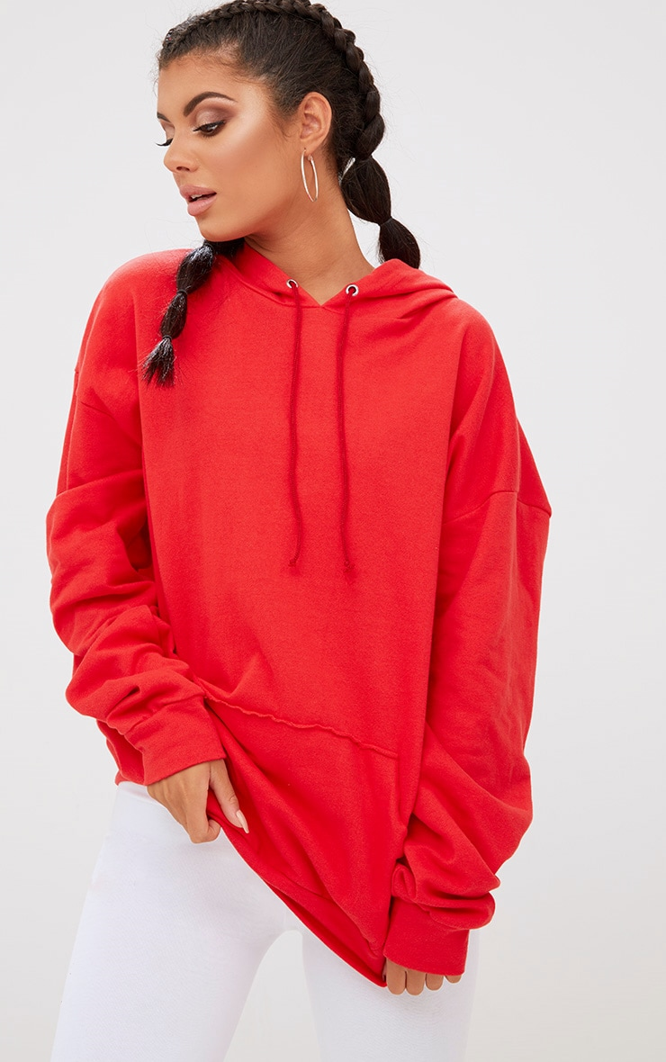 Red Oversized Hoodie 1