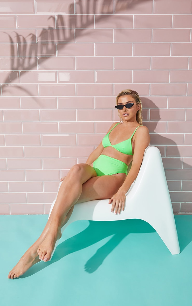 Lime Mix & Match Itsy Bitsy Bikini Top 3