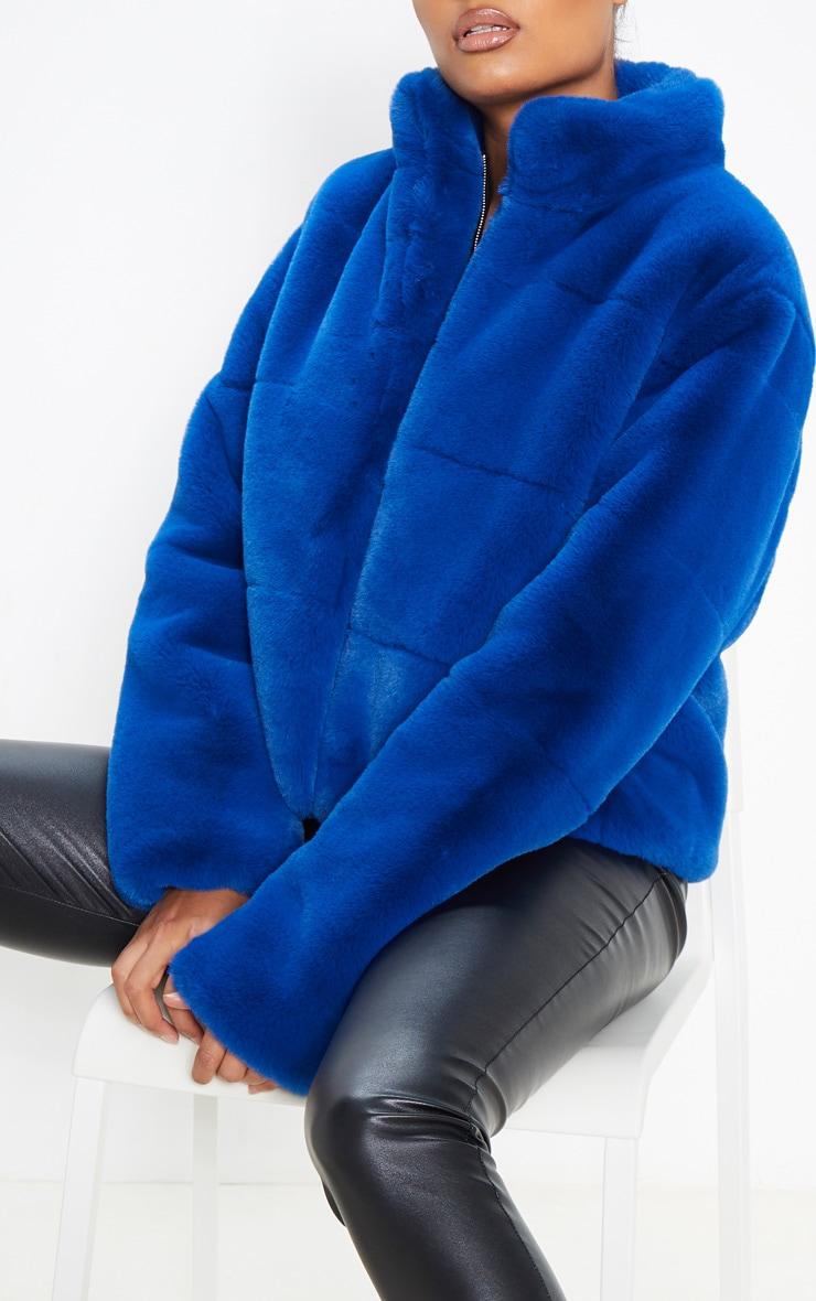 Cobalt Faux Fur Jacket 5