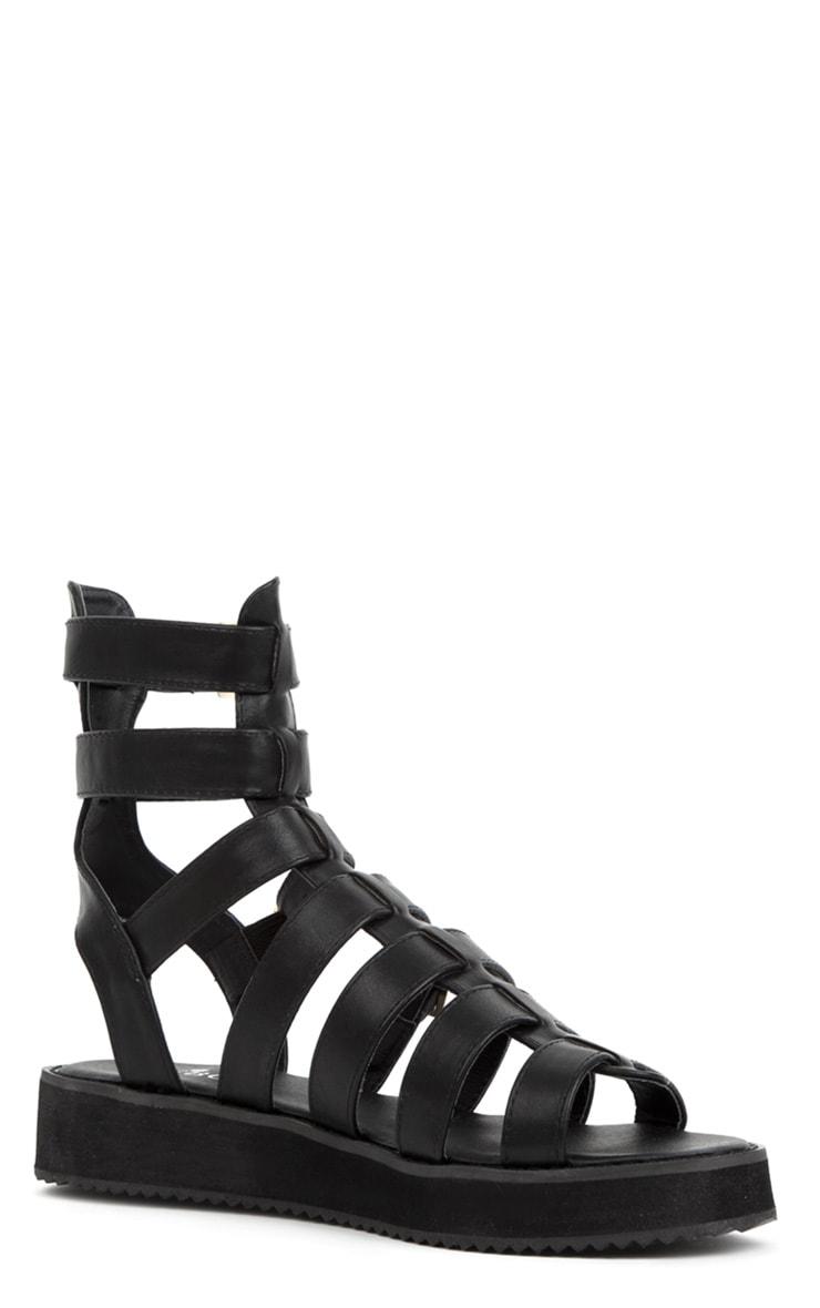 Nadia Black Gladiator Sandals 3