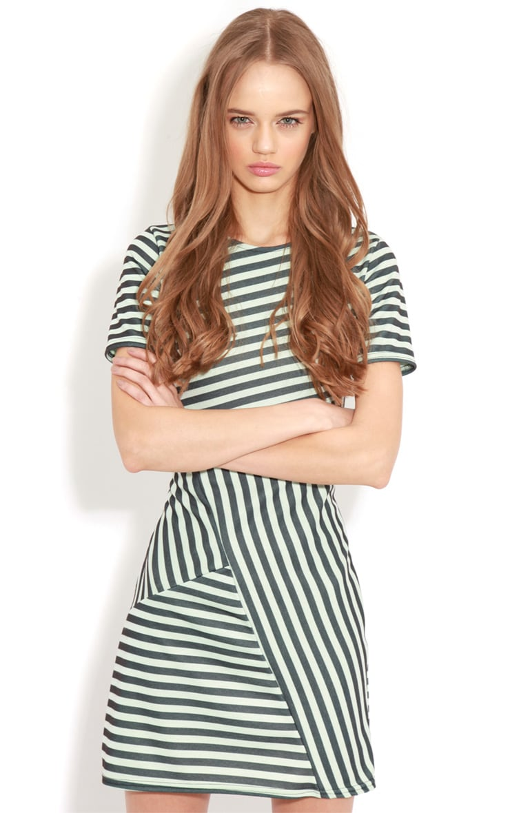 Electra Green Stripe Bodycon Dress 3