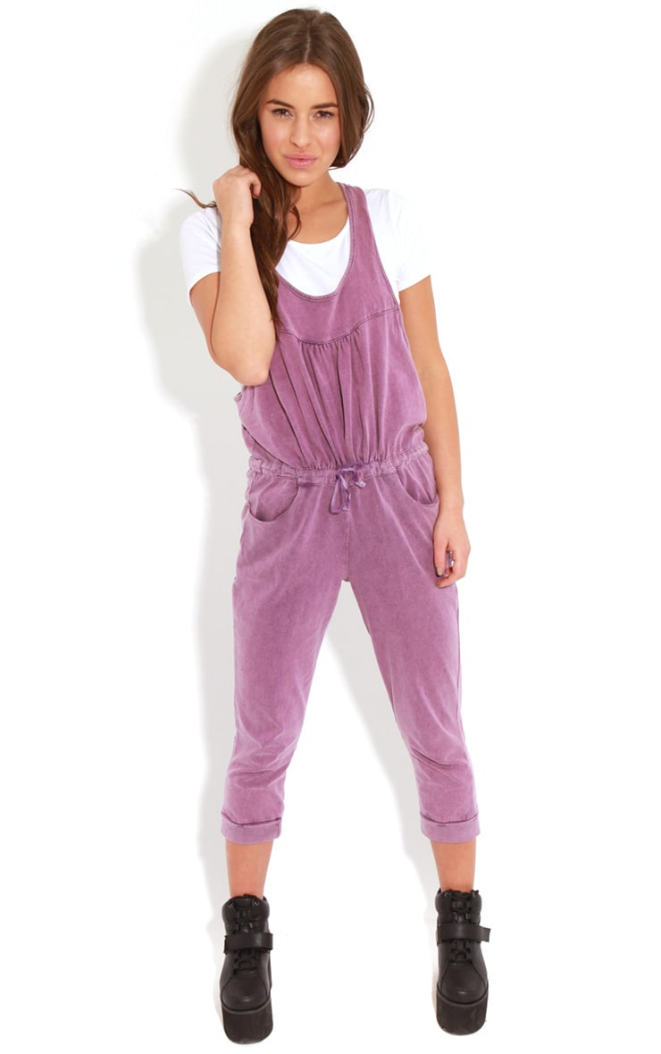 Bianca Purple Drawstring Jumpsuit 4