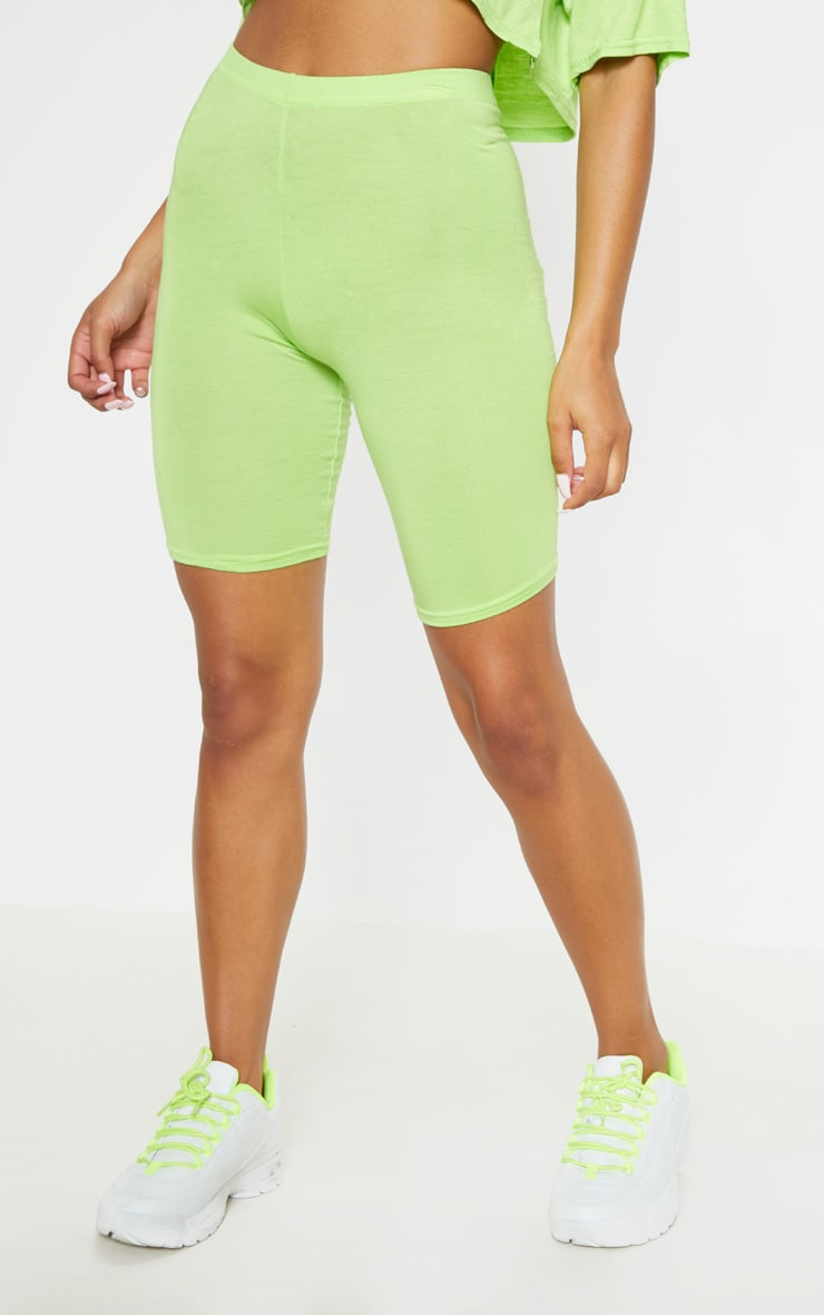 Neon Lime & Stone Basic Cycle Short 2 Pack 2