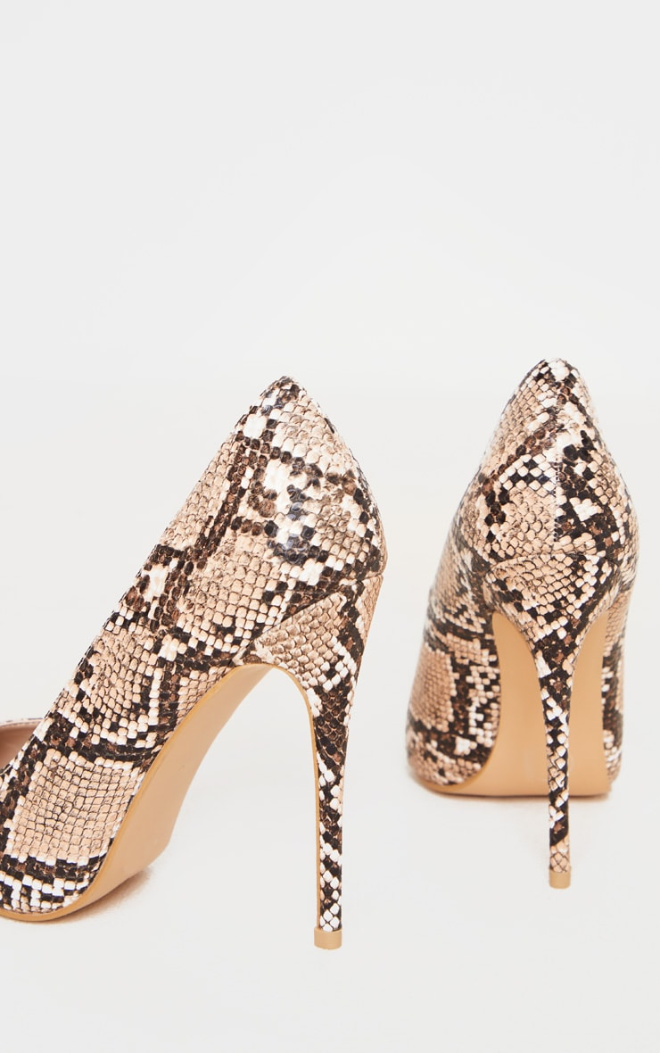 Brown Snake Court Shoe 4