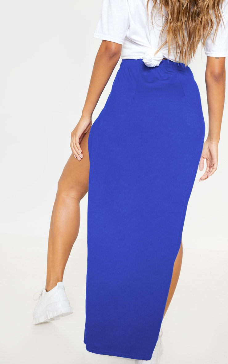 Cobalt Double Split Maxi Skirt 4