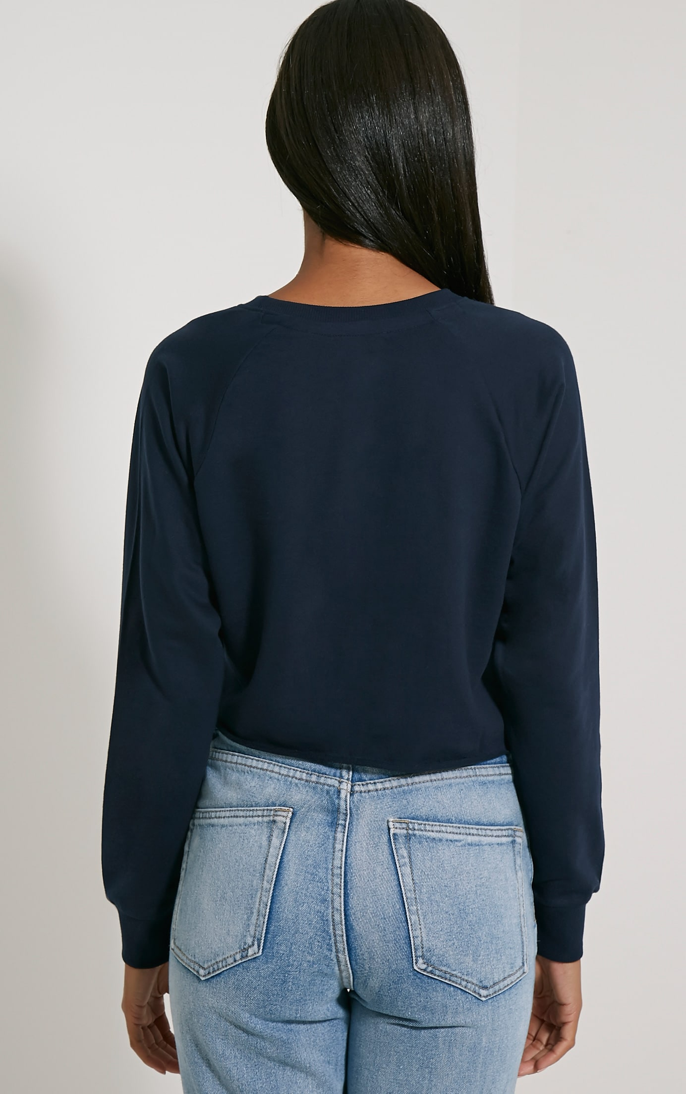 Kaira Navy NYC Crop Sweater 2