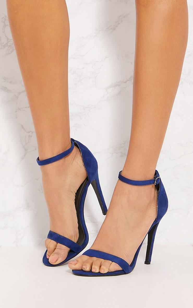 Cobalt Heeled Strappy Sandal 2