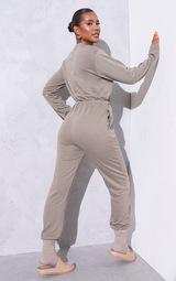 RENEW Light Khaki Long Sleeve Sweat Jumpsuit 2