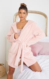 Pink Fluffy Teddy Ear Dressing Gown 1