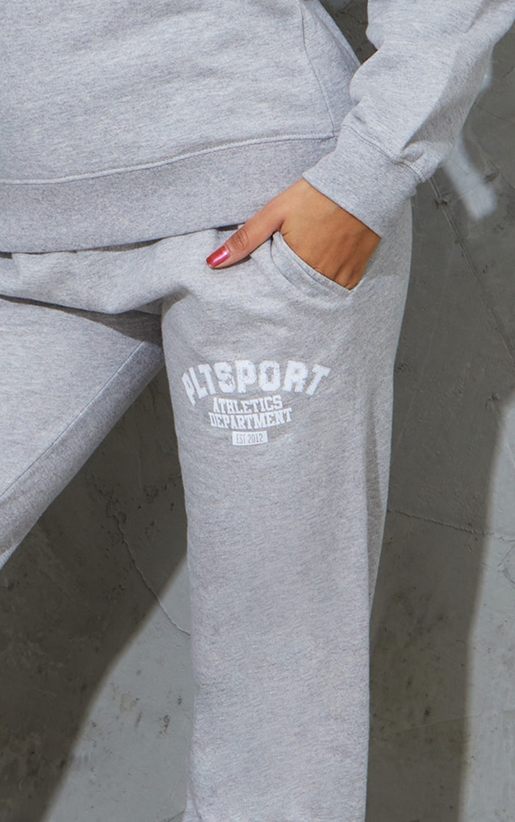 PRETTYLITTLETHING Grey Sport Oversized Joggers 4