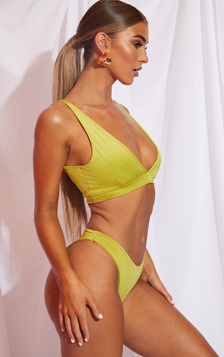Olive Mix & Match Cheeky Bum Bikini Bottom 2