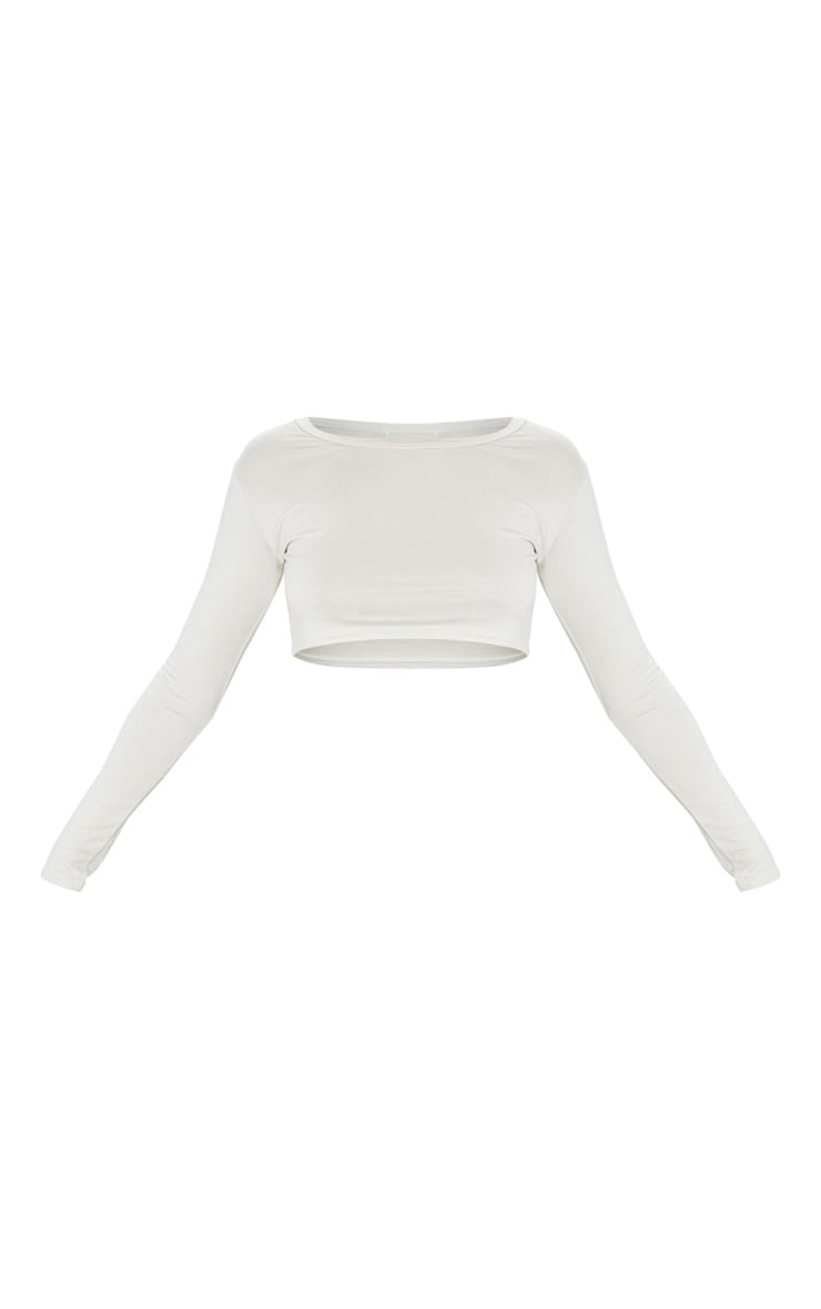 Basic Sand Jersey Crop Top 3