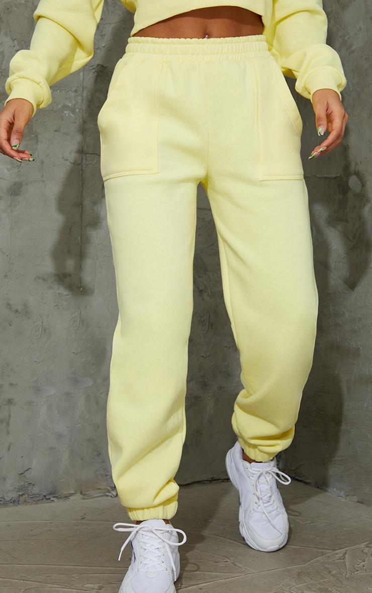 Yellow Pocket Cuffed Joggers 2