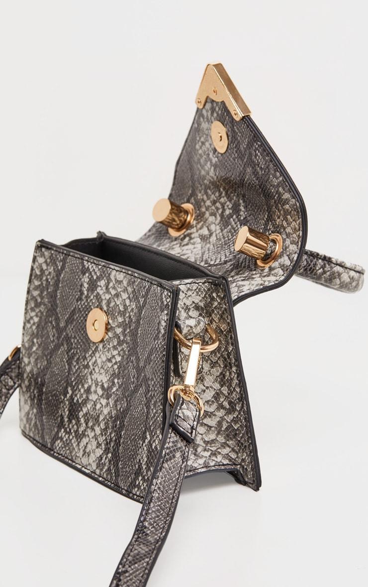 Grey Snake Envelope Mini Bag 4