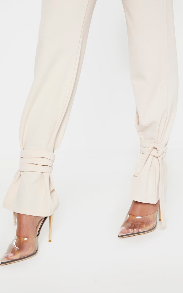 Stone Ankle Tie Straight Leg Pants 5