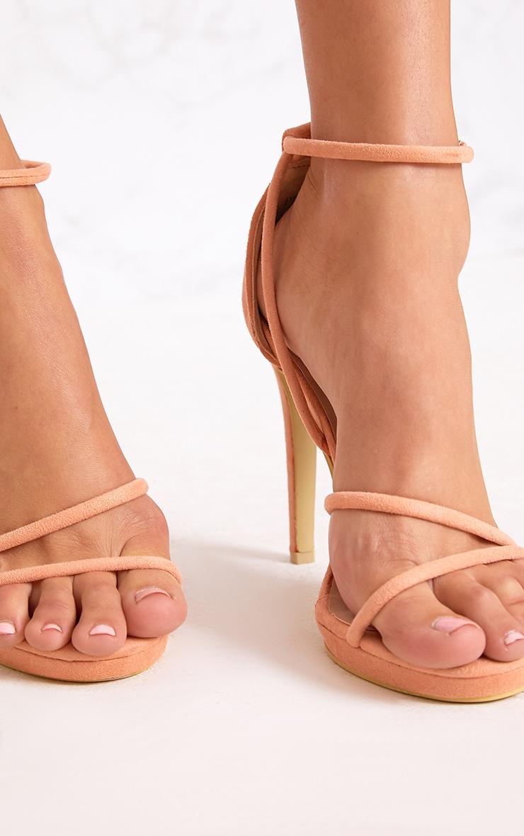 Peach Strappy Heels 4