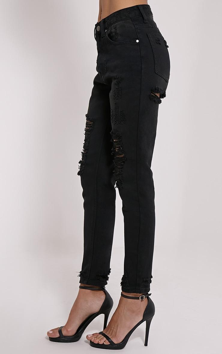 Davina Black Distressed Jean 3