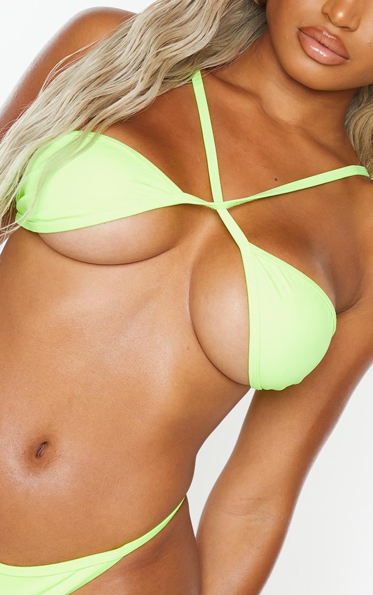 Shape Lime Cross Front Bikini Top 4