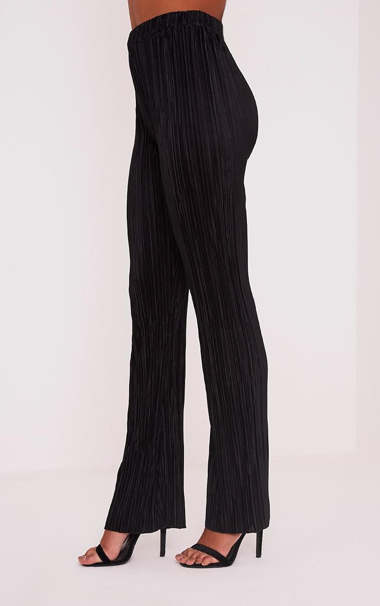 Follie pantalon taille haute plissé noir  4