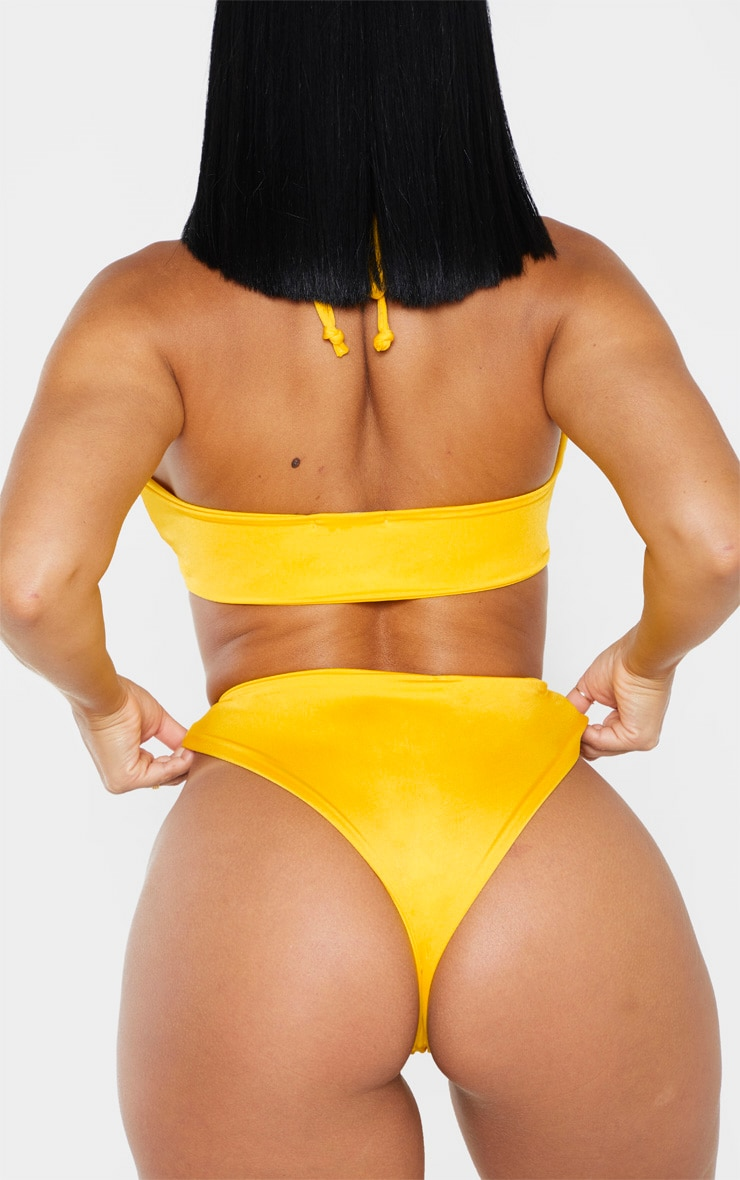 Shape Bright Yellow Tiny Bikini Bottom 3