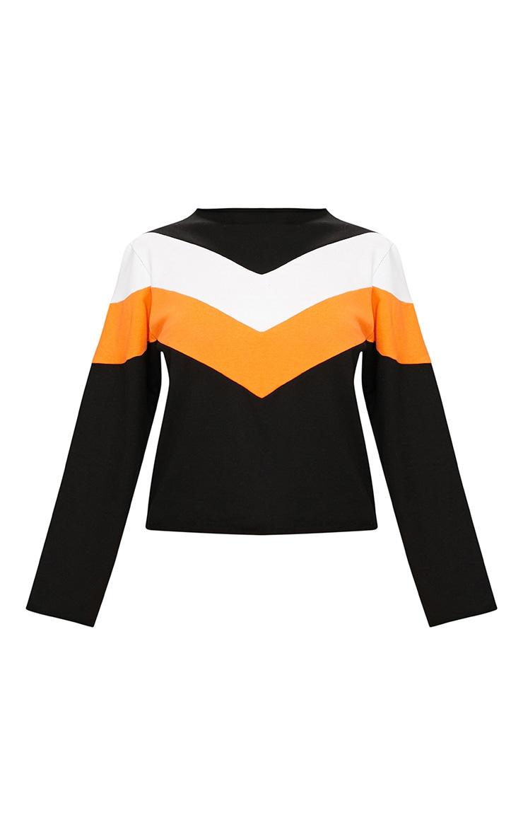 Black Funnel Neck Motorcross Sweater 3